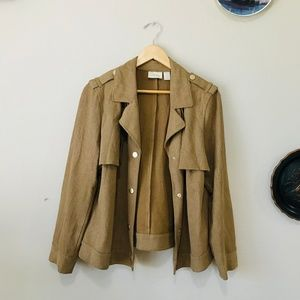 Chico's Faux Suede Moto Jacket